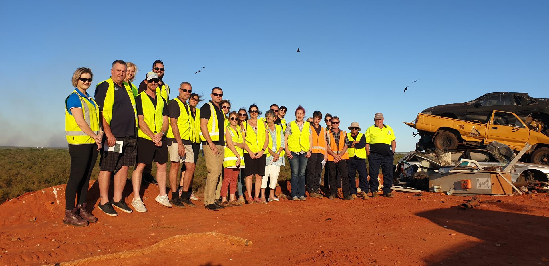 Kimberley Waste Summit attendees at the Shire of Broome Landfill Facility
